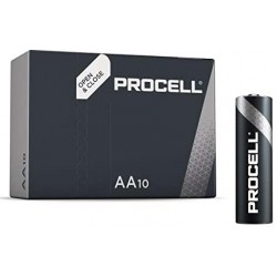 PROCELL DURACELL INDUSTRIAL ALCALINE STILO AA - BOX 10 BATTERIE